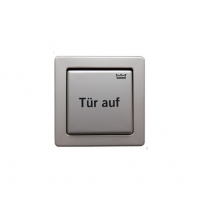 Клавиша из нерж.стали: открыть дверь