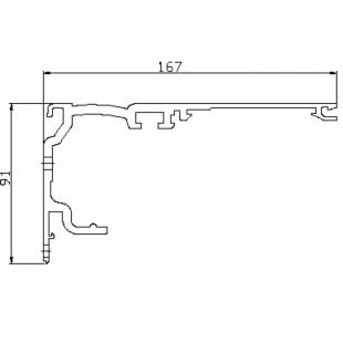 Профиль привода 25505007120 L=3125мм, без обработки