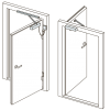 Для одностворчатых дверей