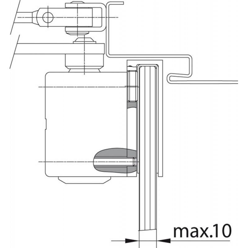 Монтажная пластина A164 для установки дверного доводчика