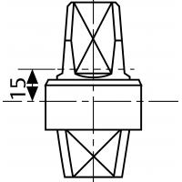 MA0363S0 (AC363) - шпиндель 15 мм