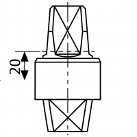 MA0364S0 (AC364) - шпиндель 20 мм