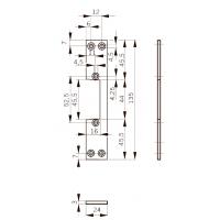 FKM24 Планка плоская для метал. дверей, отв. под язык