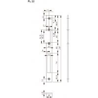 FL22 Планка плоская, отв. под язык и ригель-задвиж