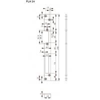 FLH24 Планка плоская для дерев. дверей, отв. под язык