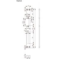 FLM24 Планка плоская для метал. дверей, отв. под язык