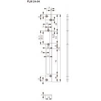 FLH24-94 Планка плоская,для дерев. дверей, отв. под язык и ригель