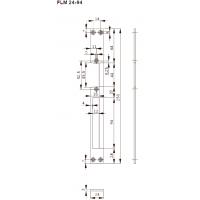 FLM24-94 Планка плоская,для метал. дверей, отв. под язык и ригель