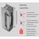 Basic 448 RR Easy Adapt Lucky электрозащелка с регулируемым язычком для дверей с притвором и без,симметричная, Нормально-Закрытая. Накладка с направляющей ригеля. Функция открывания под нагрузкой, функция контроля ригеля.Питание 12 - 24 V DC