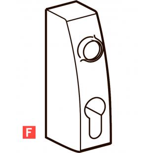 PHT 07F DORMA внешний фитинг без ручек для противопожарных и дымозащитных дверей