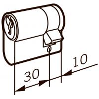 Евроцилиндр DORMA 160F 40   (30+10)