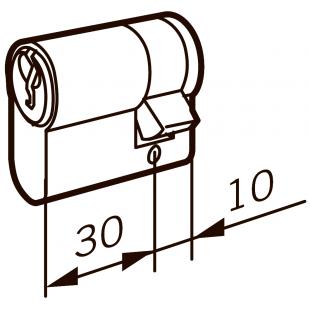 Евроцилиндр DORMA 160F 40   (30+10), 3 ключа, НИКЕЛЬ