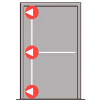 Комплект PHB 3000 с тремя точками запирания в сторону