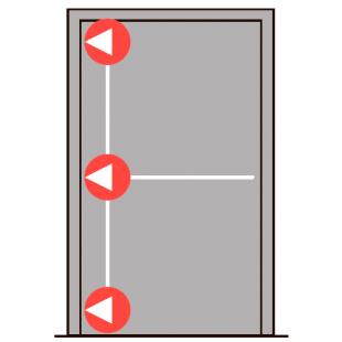 Комплект антипаники PHB 3000 DORMA с тремя точками запирания в сторону