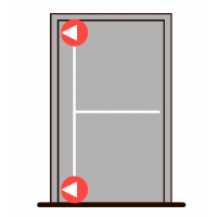 Комплект PHB 3000 с двумя точками запирания в сторону