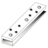 Монтажная пластина для цельностеклянных дверей