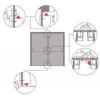 PHA 2000 для двухстворчатых дверей