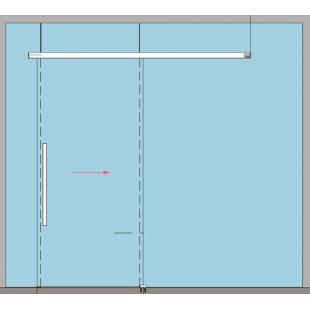 MUTO Comfort L 80 DORMOTION 80, комплект, крепление на стекло, ширина чистого прохода 1050 мм, для панели шириной 1110 мм