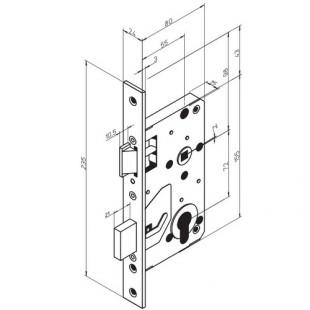 4202 ABLOY симметричный замок с изменяемой сторонностью для тяжелого режима работы
