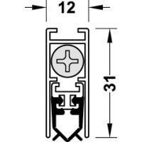 Дверной уплотнитель алюмин./ силикон серый 1130 мм.НЕ ДОСТУПЕН!