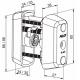 Электронный цилиндр CLIQ  двойной CYL065 ABLOY