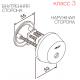 CY037 ABLOY односторонний внешний цилиндр финского стандарта для деревянных и металлических дверей