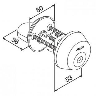 Цилиндр с поворотной кнопкой CY028 ABLOY