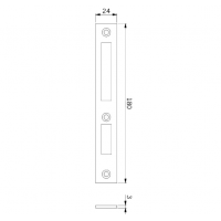 Ответная планка замка 810 и 601