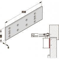 Пластина монт. TS71, 72