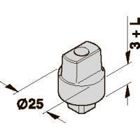 45200402 шпиндель BTS, DIN R+L, удл. 5 мм.