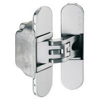 Дверная петля скрытая, цвет золото, для дверей толщиной от 30 мм, вес двери до 60 кг.