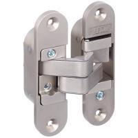 Скрытая дверная петля цвет никель матовый для дверей толщиной от 40 мм левая
