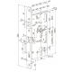 EL518 ABLOY CERTA моторный замок для сплошных дверей Евростандарта