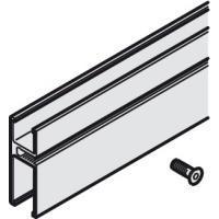 Крепёжный профиль для стекла 8-10 мм, длина 3000 мм, цвет нержавеющей стали
