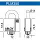 Всепогодный замок с защитой дужки и цилиндра PLM350 ABLOY серии SWP