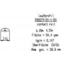 Профиль трека L=6250мм