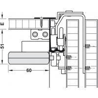 Slido Classic 50 VF SR комплект амортизаторов для 2 дверей, 16-26 мм