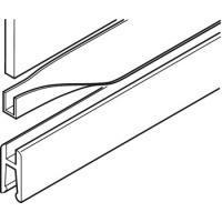 Slido Design 25 IF G, профиль для зажима стекла, резина, черный, 32x1,5 мм