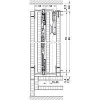 Набор фитингов Hawa-Folding Concepta 25 для 1 двойной высоты двери 1250-1850 мм, анодированный черный, правый