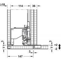 Комплект Finetta Spinfront 60 2D, для 2-х дверей с высотой 2200-2700 мм, монтажная глубина 805 мм.