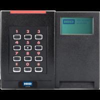 HID 928NSNTEK200TG. Биометрический считыватель отпечатка пальца iCLASS SE RKLB40 с клавиатурой и ЖК-экраном (только Seos)