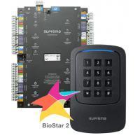 Suprema CST-4DR-D2GK. Комплект СКУД: мастер-контроллер CS-40 + RFID-считыватель Xpass D2 GangBox Keypad (4 шт.) + ПО BioStar2 Starter + мобильные идентификаторы