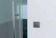 Кнопка  Привод может быть оснащен кнопкой, нажатие которой автоматически открывает дверь для прохода, закрывая ее затем через определенный интервал.