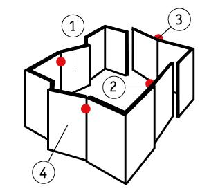 Направление открывания / сторонность двери