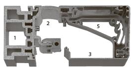 Профили для установки в проеме, H=100 мм