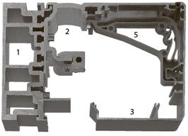 Профили для установки в проеме, H=150 мм