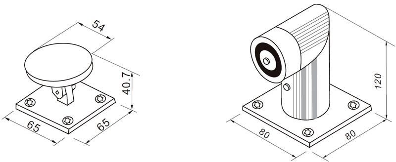 Размеры дверного магнита YD-606