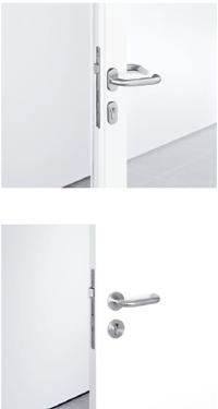 Для узкопрофильных и сплошных дверей