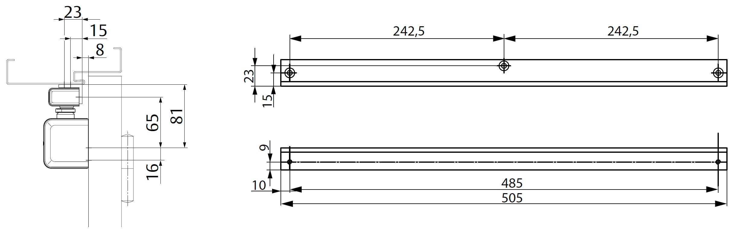 Угловая монтажная пластина A104