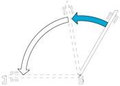 Задержка закрывания двери Задержка скорости закрывания двери в момент между 120° и 70°.